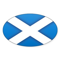 Scottish Saltire Oval Decal