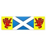 Scottish Saltire / Rampant Lion Bumper Sticker