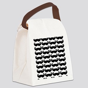 Mustaches Canvas Lunch Bag