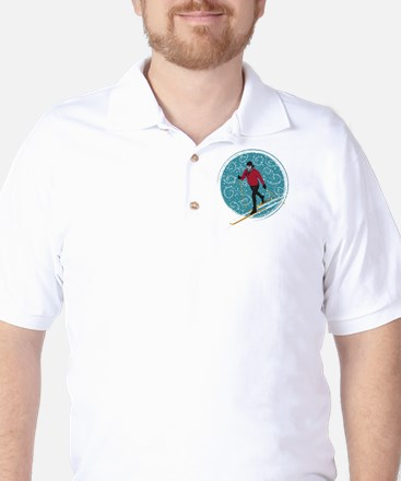 Nordic Ski Girl Golf Shirt