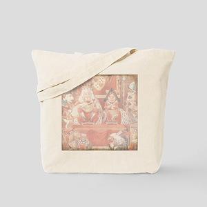 Vintage Alice in Wonderland King and Quee Tote Bag