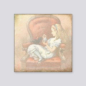 "Alice in Wonderland Square Sticker 3"" x 3"""