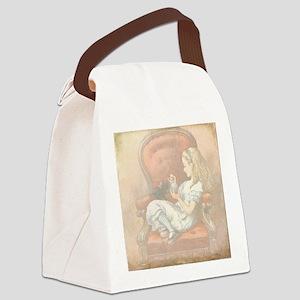 Alice in Wonderland Canvas Lunch Bag