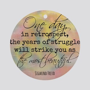 Struggle Quote Round Ornament