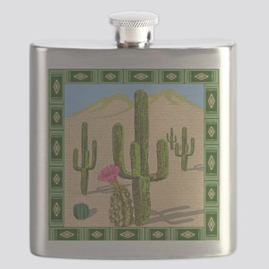 desert cactus shower curtain Flask