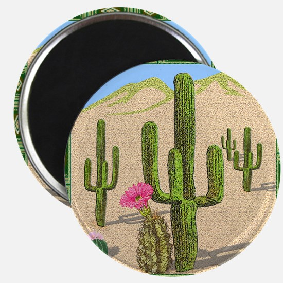 desert cactus shower curtain Magnet
