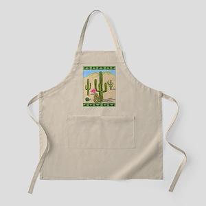 desert cactus shower curtain Apron