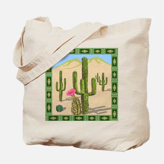 desert cactus shower curtain Tote Bag