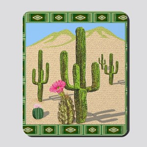 desert cactus shower curtain Mousepad