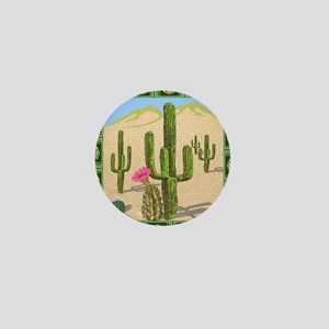 desert cactus shower curtain Mini Button