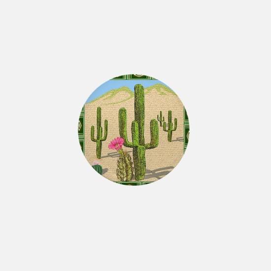 desert cactus shower curtain Mini Button