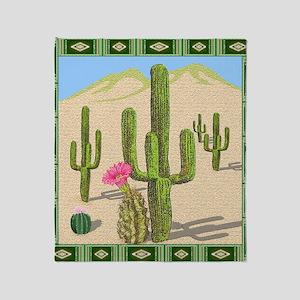 desert cactus shower curtain Throw Blanket
