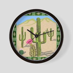 desert cactus shower curtain Wall Clock