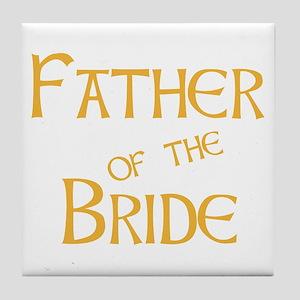 Sherbet Father of the Bride Tile Coaster