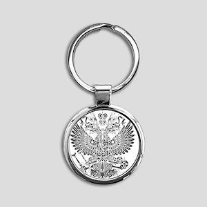 Byzantine Eagle Round Keychain