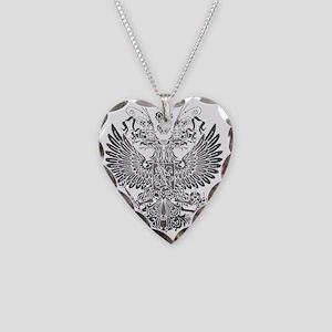 Byzantine Eagle Necklace Heart Charm