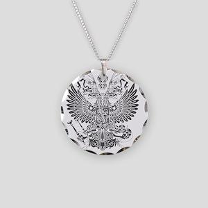 Byzantine Eagle Necklace Circle Charm