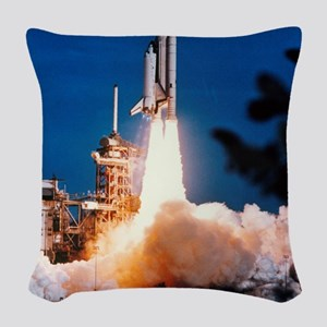 Launch of Columbia, the first  Woven Throw Pillow