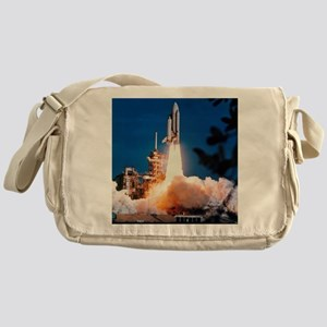 Launch of Columbia, the first space  Messenger Bag