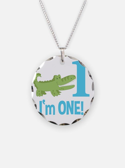 Im One Alligator Birthday De Necklace Circle Charm
