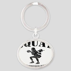 Squat Oval Keychain