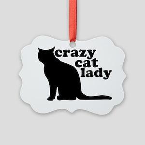 Crazy Cat Lady Picture Ornament