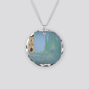 Emerald City Bordered Necklace Circle Charm