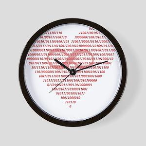 Love is Eternal (Binary) Wall Clock