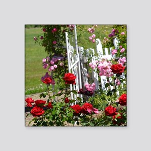 "Rose Garden Square Sticker 3"" x 3"""