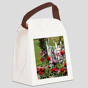 Rose Garden Canvas Lunch Bag