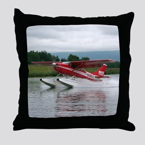 Float plane taking off, Alaska Throw Pillow