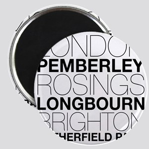 Pride and Prejudice Locations Magnet