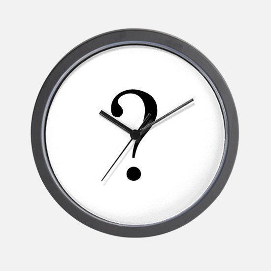 Unknown gender question mark Wall Clock