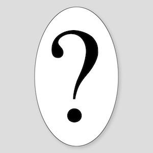 Unknown gender question mark Oval Sticker