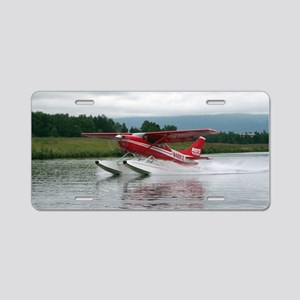 Float plane taking off, Ala Aluminum License Plate