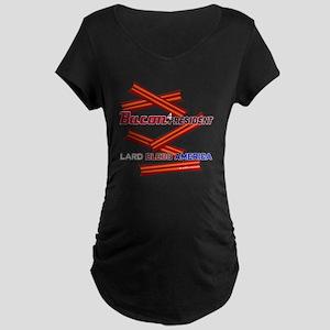 B4P Lard Bless America 11x1 Maternity Dark T-Shirt