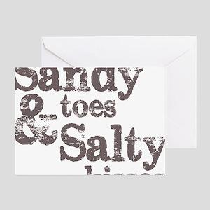 sandy toes salty kisses greeting card - Greeting Card Sayings