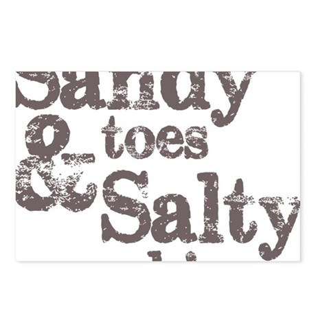 Charmant Sandy Toes Salty Kisses Postcards (Package Of 8)