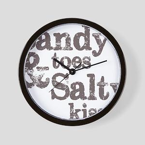 Sandy Toes Salty Kisses Wall Clock