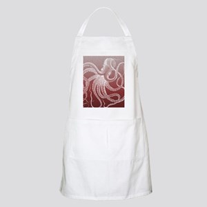 sea monster brown red Apron
