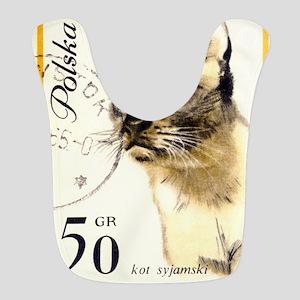 1964 Poland Siamese Cat Postage Stamp Bib