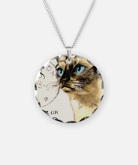 1964 Poland Siamese Cat Post Necklace