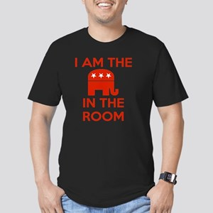I Am the Elephant in t Men's Fitted T-Shirt (dark)