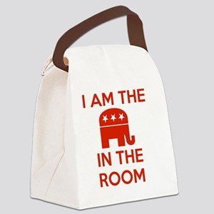 I Am the Elephant in the Room Canvas Lunch Bag