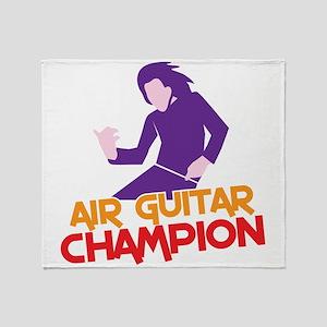 Air Guitar CHAMPION! Throw Blanket