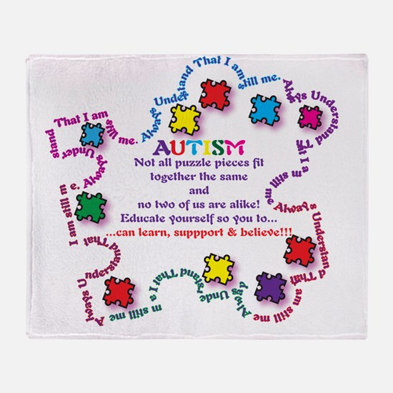 Puzzle Pieces No Two Alike Throw Blanket