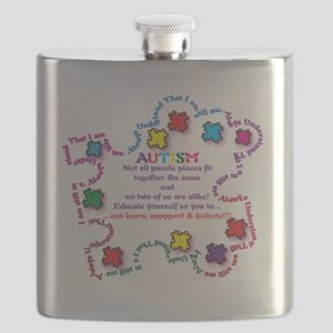 Puzzle Pieces No Two Alike Flask