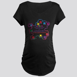 Puzzle Pieces No Two Alike Maternity Dark T-Shirt
