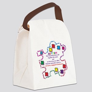 Puzzle Pieces No Two Alike Canvas Lunch Bag