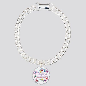Puzzle Pieces No Two Ali Charm Bracelet, One Charm